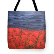 Thunderstorm Over The Poppy Field Tote Bag