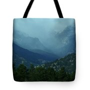 Thunderstorm Up Fall River Road Tote Bag