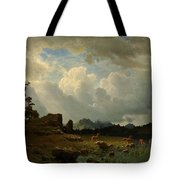 Thunderstorm_in_the_rocky_mountains Tote Bag