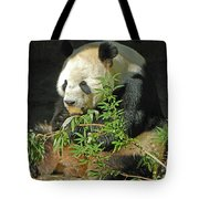 Tian Tian Hanging Out In Panda Man Cave Tote Bag