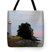 Tibbetts Point Light Sunset Tote Bag