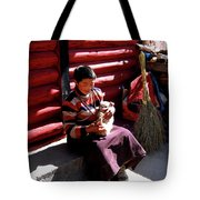 Tibetan Boy Tote Bag