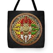 Tibetan Double Dorje Mandala Tote Bag