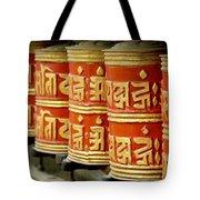 Tibetan Prayer Wheel  Tote Bag