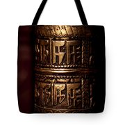 Tibetan Prayer Wheel Tote Bag