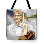 Tibetan Refugee Digital Art Tote Bag