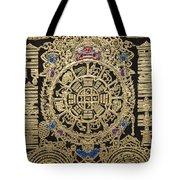 Tibetan Thangka - Tibetan Astrological Diagram Tote Bag