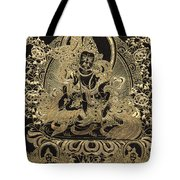 Tibetan Thangka - Vaishravana - God Of Wealth And Regent Of The North Tote Bag