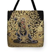 Tibetan Thangka - Vajrapani - Protector And Guide Of Gautama Buddha Tote Bag