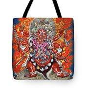 Tibetan Thangka  - Wrathful Deity Hayagriva Tote Bag