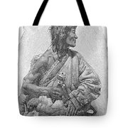Tibetan With Prayer Wheel Tote Bag