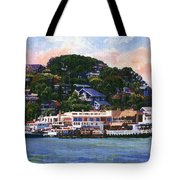 Tiburon California Waterfront Tote Bag