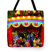 Ticket Booth Of Flowers Tote Bag