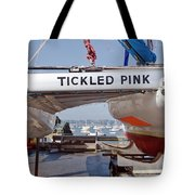 Tickled Pink In Mylor Cornwall Tote Bag