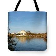 Tidal Basin And Jefferson Memorial Tote Bag by Megan Cohen