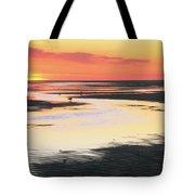 Tidal Flats At Sunset Tote Bag