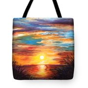 Tide Marsh Sunset Tote Bag