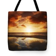 Tidepool At Sunset Tote Bag