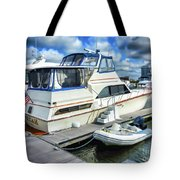 Tidewater Yacht Marina 5 Tote Bag by Lanjee Chee