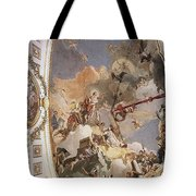 Tiepolo Palacio Real The Apotheosis Of The Spanish Monarchy Giovanni Battista Tiepolo Tote Bag