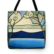Tiffany And Blossoms Stained Glass Tote Bag