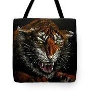 Tiger-1 Original Oil Painting Tote Bag