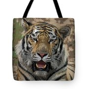 Tiger Abstract Tote Bag