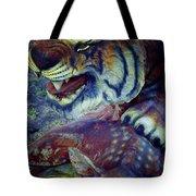Tiger And Deer Tote Bag