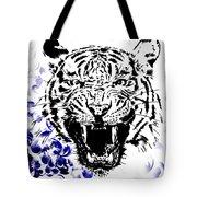 Tiger And Paisley Tote Bag
