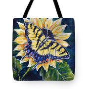 Tiger And Sunflower Tote Bag