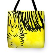 Tiger Animal Decorative Black And Yellow Poster 2 - By Diana Van Tote Bag