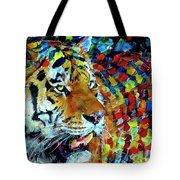 Tiger Big Colors Tote Bag