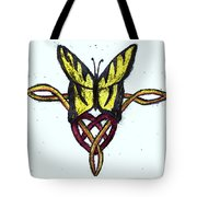 Tiger-butterfly Celtic Double Knot Tote Bag