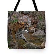 Tiger Crossing Poster Tote Bag
