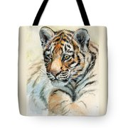 Tiger Cub Portrait 865 Tote Bag
