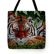 Tiger In Jungle Tote Bag
