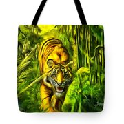Tiger In The Forest Tote Bag