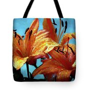 Tiger Lilies After The Rain - Painted Tote Bag