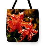 Tiger Lilies Tote Bag by Rona Black