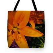 Tiger Lily Bouquet Tote Bag