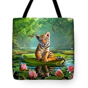 Tiger Lily Tote Bag by Jerry LoFaro