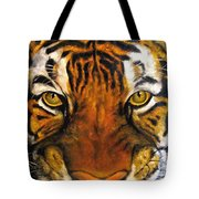 Tiger Mask  Original Oil Painting Tote Bag