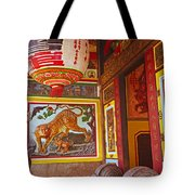 Tiger Mural Tote Bag