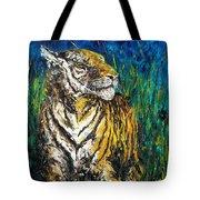 Tiger Night Hunt Tote Bag