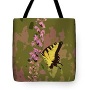 Tiger On Blazing Star Tote Bag