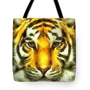 Tiger Painted Tote Bag