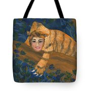 Tiger Sphinx Tote Bag