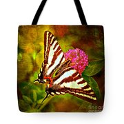 Zebra Swallowtail Butterfly - Digital Paint 3 Tote Bag