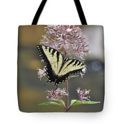 Tiger Swallowtail Butterfly On Common Milkweed 2 Tote Bag