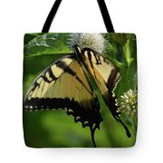 Tiger Swallowtail On Button Bush Tote Bag
